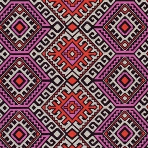 Cotton Face Mask - Purple Geometric