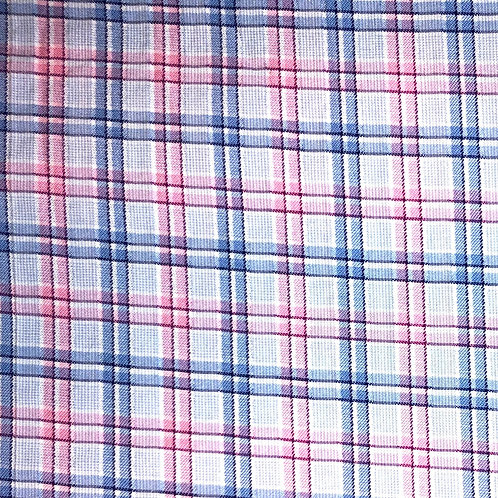 Windowed Face Mask - Blue & Pink Plaid