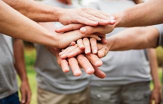 sophrologie, entre-aide, soutien, mains, groupe