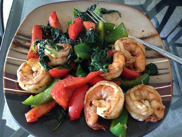 spicy BBQ shrimp