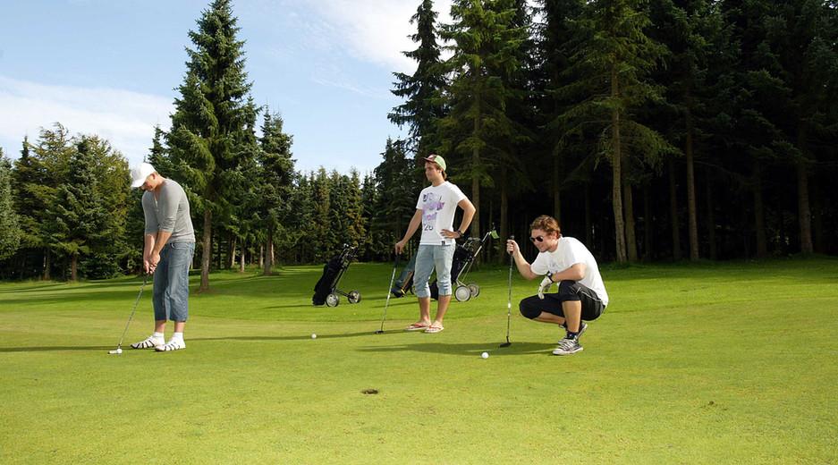 Hygge golfspillere
