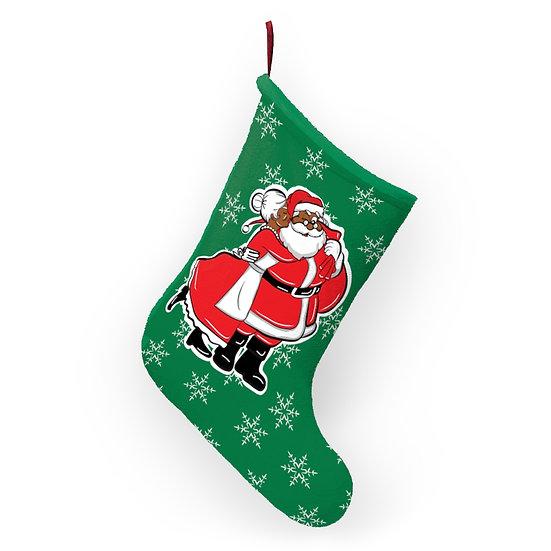 Mama's Kissing Santa Stocking
