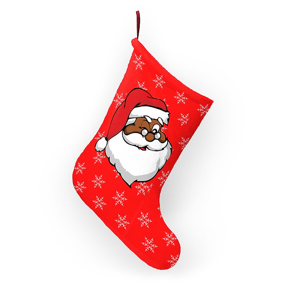 Santa's Watching Christmas Stocking