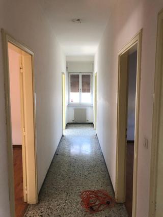 Corridoio prima dell'inizio dei lavori