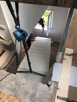 Installazione scala in ferro