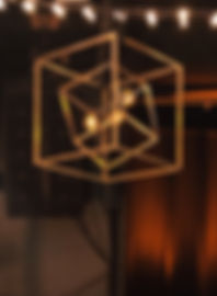 Gold Cube Chandeliers