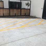 No parking line marking