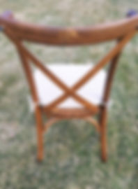 Fruitwood Cross Back Chair