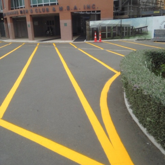 Line marking and signage
