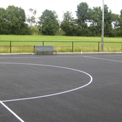 Tennis court line marking