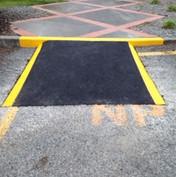 Footpath and ramp markings