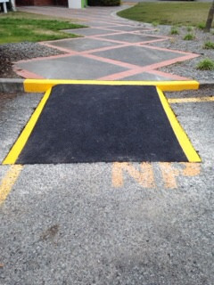 Footpath and ramp markings
