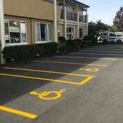 Disabled carpark marking