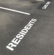 Residents car park marking