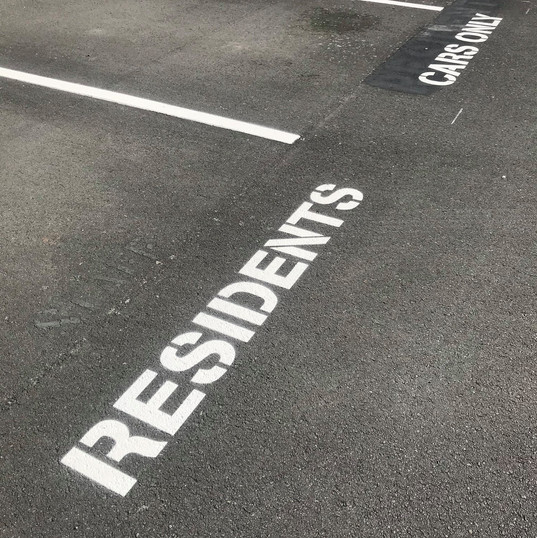 Residents car park marking