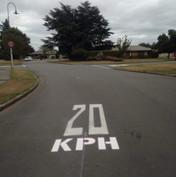 20 KPH road graphics