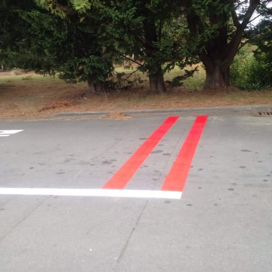 Road marking and safety lines