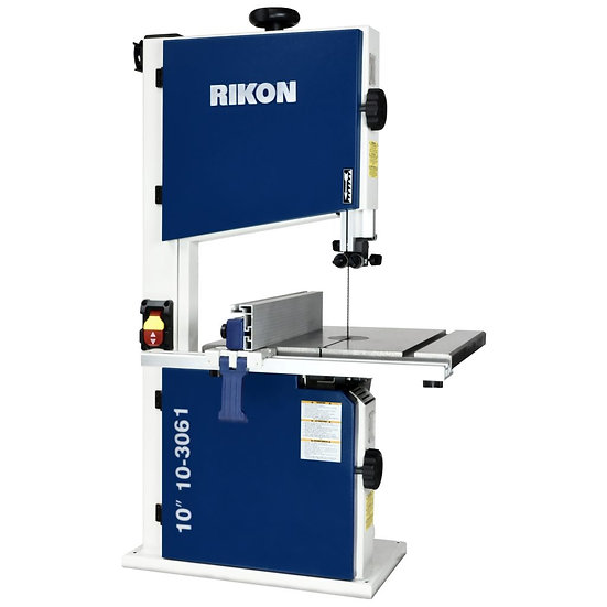"RIKON 10-3061 New Improved 10"" Deluxe Bandsaw 1/2 HP, 2 speed, tool-less guides,"