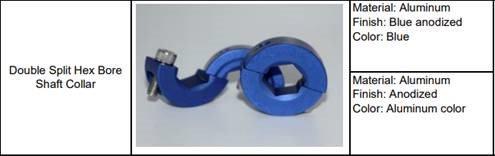"""1/2"""" Hex Locking Shaft Collar - Aluminum - 2 Piece Design!"""
