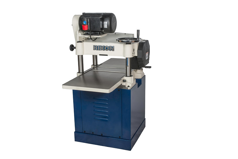 """RIKON 23-150H, 15"""" Planer 3.0HP Cast Iron Ext Tables Helical Cutter Closed Stand"""