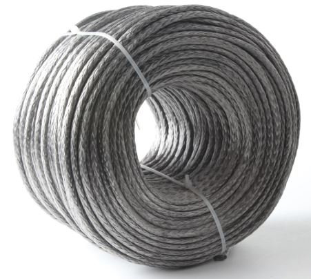 2mm UHMWPE 8 strand 1000lb Winch Rope - Per Foot Price