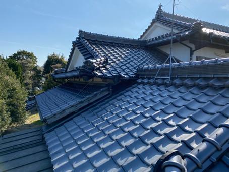 入母屋屋根、施工写真(岡垣町、K様邸)