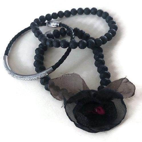 Black Bracelet Set of 3