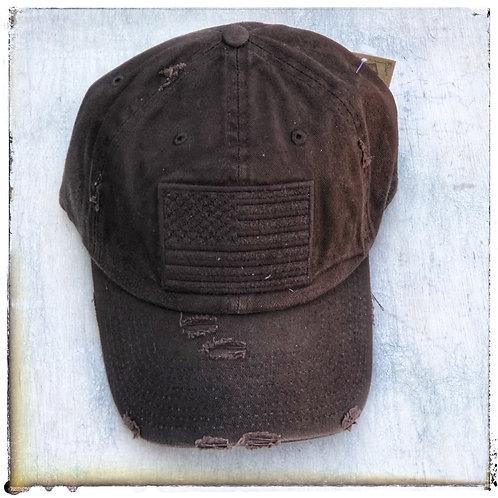 Distressed Brown Cap