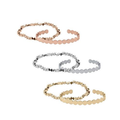 BELLA 2 in 1 Women Bracelet Set – Choice of Rosegold, Silver or Gold –