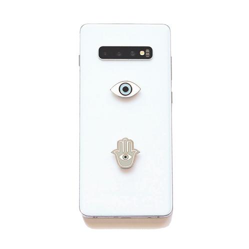 Hamsa Evil Eye Metal Phone Charms set of 2