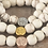 Thumbnail: 3 in 1 Evil-Eye Pendant and Natural Cream Howlite 8mm Stretchy Stone Bracelets