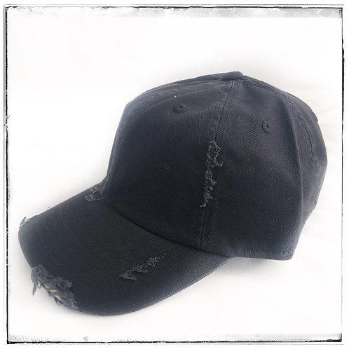 Distressed Cap Black