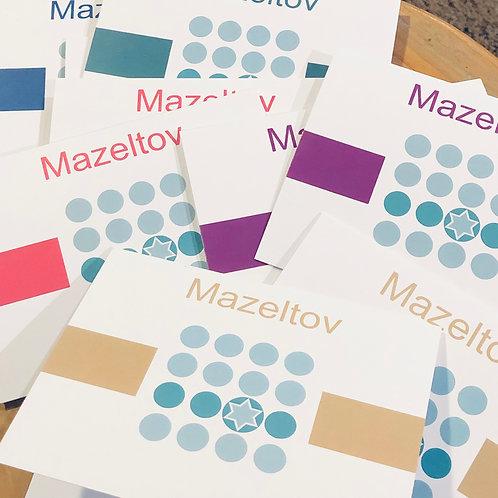 Greeting cards s/10 Mazeltov