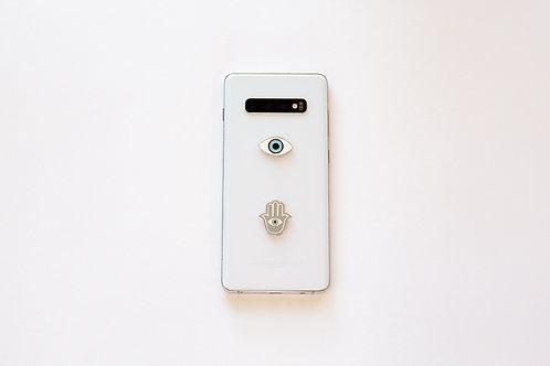 Phone Charm Set of two Hamsa Evil Eye
