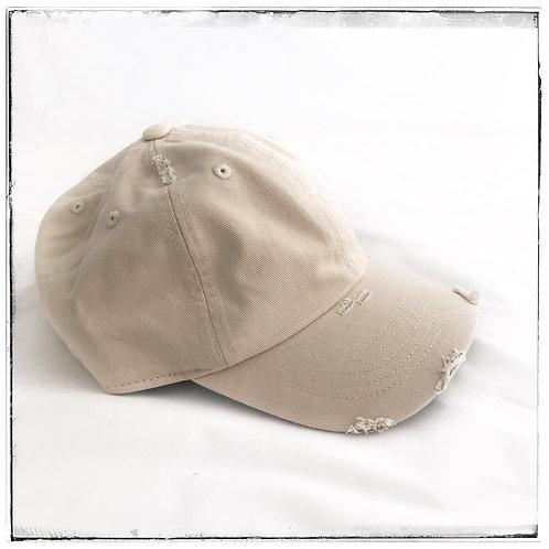 Distressed Cap Khaki