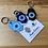 Thumbnail: Hamsa Evil Eye Metal Phone Charms set of 2