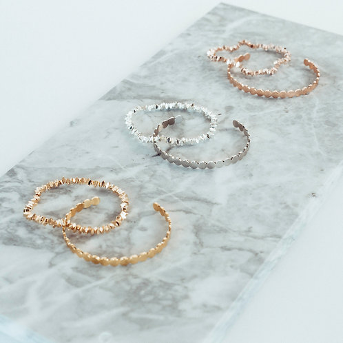 BELLA 2 in 1 Women Bracelet Set – Choice of Rosegold, Silver or Gold –