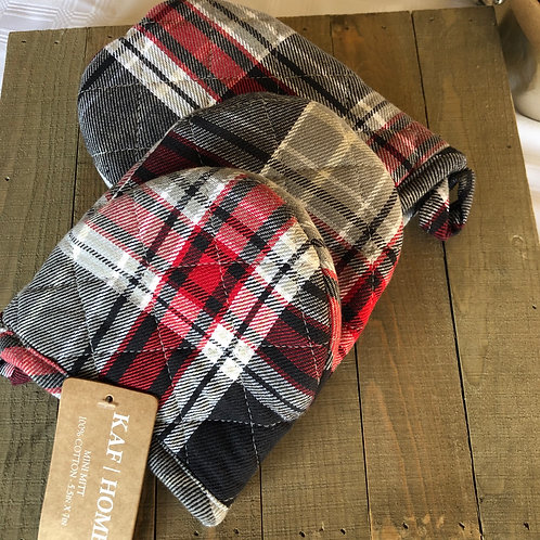 Mini Mitts set of two plaid