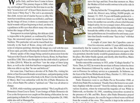 """Servant Of God Padre Domenico da Cese: The Holy Face, Bilocation, and Saint Padre Pio"" Article"