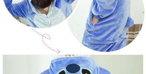 Pijama Stitch Pelucia Adulto Fantasia