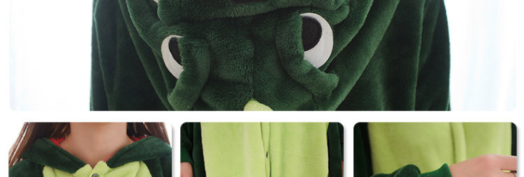 Pijama Dinossauro Verde Pelucia
