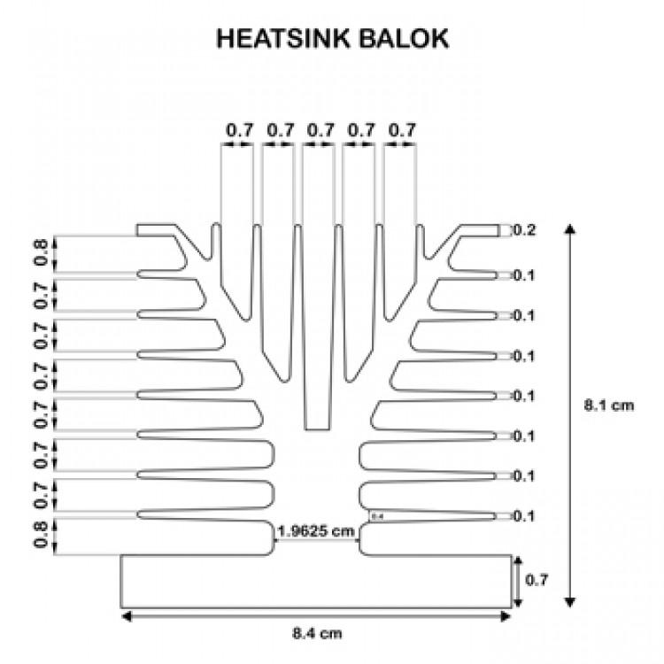 HEATSINK BALOK DIMENSI