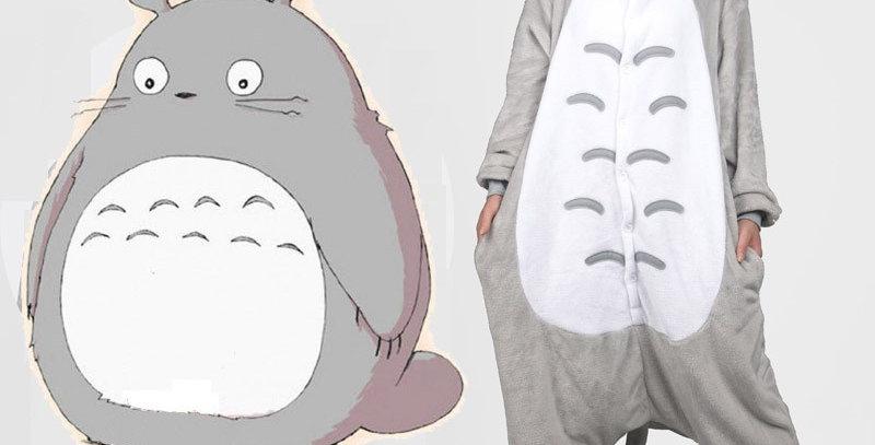Pijama Totoro Pelucia Meu amigo totoro Cosplay studio ghibli