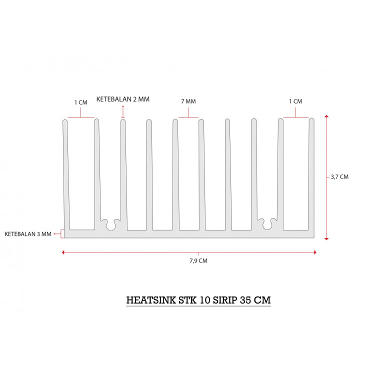 HEATSINK 10 SIRIP