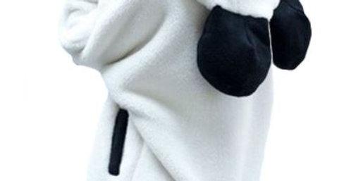 Casaco Panda Com zíper Pelucia