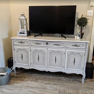 Restauration de meuble par un faux-fini