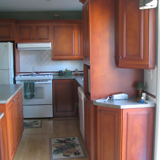 Restauration d'armoires de cuisine et de salle de bain