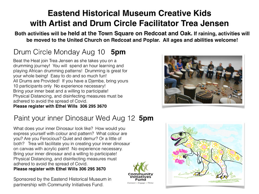 Drum Circle and Paint Your Inner Dinosau