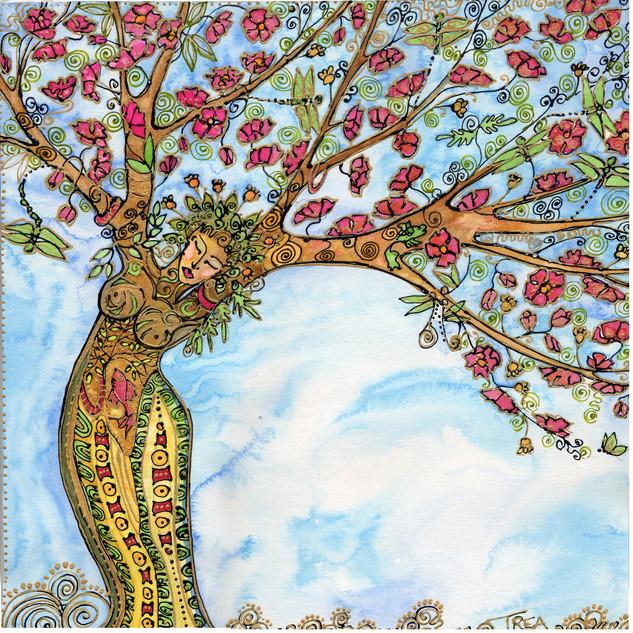 Apple Blossom Tree Goddess