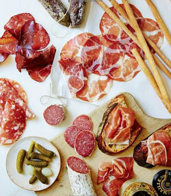 Charcuterie cured meat platters